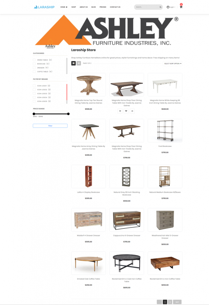 Laraship Laravel Marketplace frontend theme